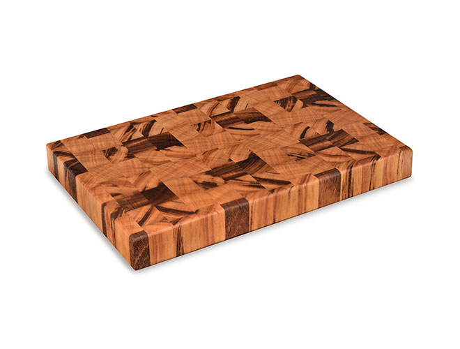 "Cutlery and More 18x12x2"" Tigerwood End Grain Cutting Board"
