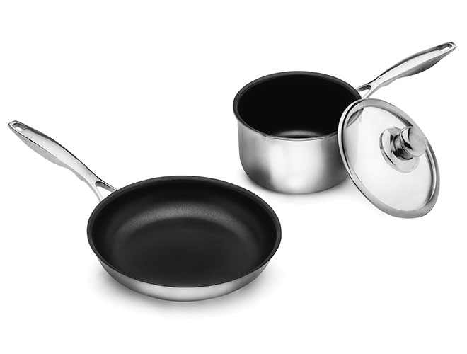 Swiss Diamond Prestige Clad 3 Piece Stainless Steel Nonstick Cookware Set