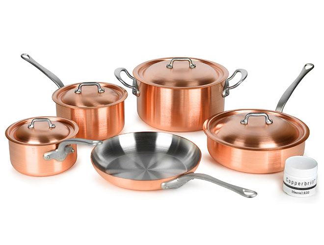 Mauviel M'heritage 250S 2.5mm Brushed Copper Cookware Sets