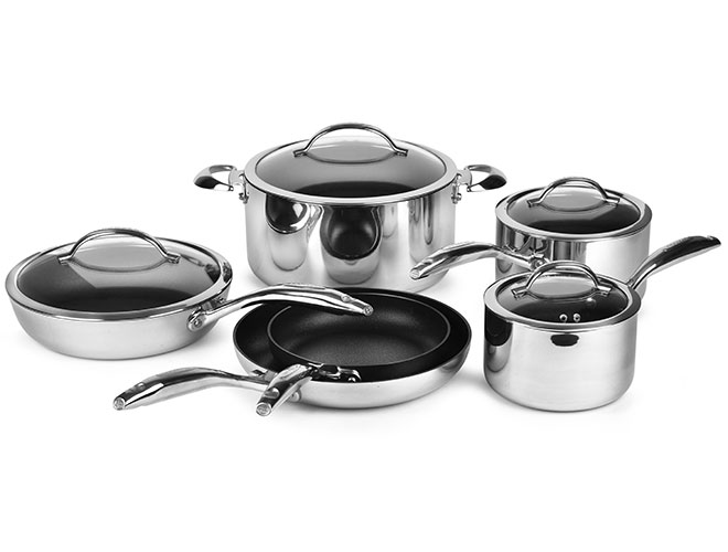 Scanpan HaptIQ 10 Piece Stainless Steel Nonstick Cookware Set