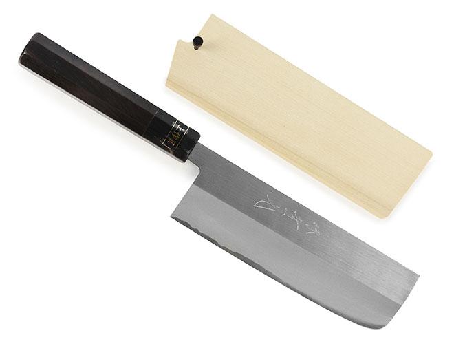 Jikko White #2 Carbon Steel Knives with Ebony Handle & Saya