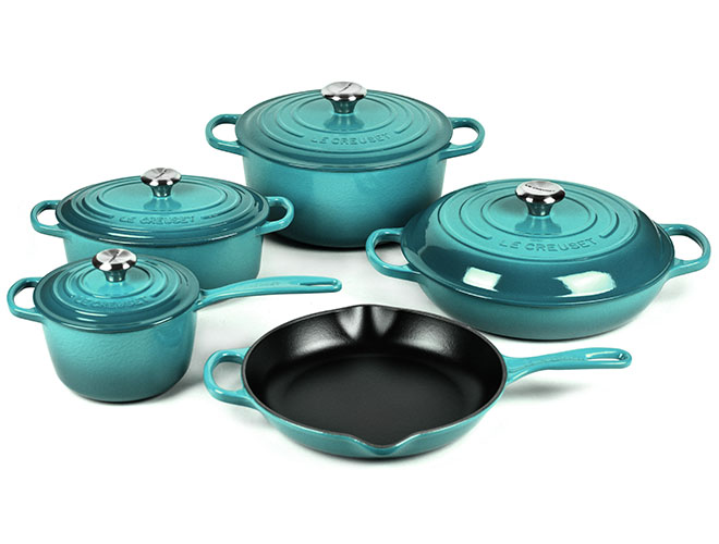 Le Creuset Signature Cast Iron 9 Piece Cookware Set