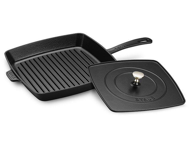 Staub 12-inch Square Grill Pan with Panini Press