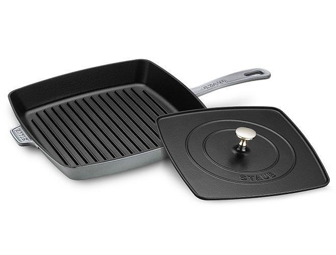 Staub 12-inch Square Grill Pan with Panini Press