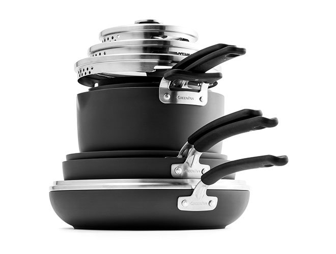 GreenPan 11 Piece Stackable Nonstick Cookware Set