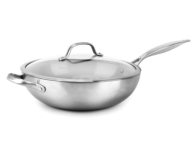 "GreenPan Venice Pro 12"" Nonstick Wok with Lid"