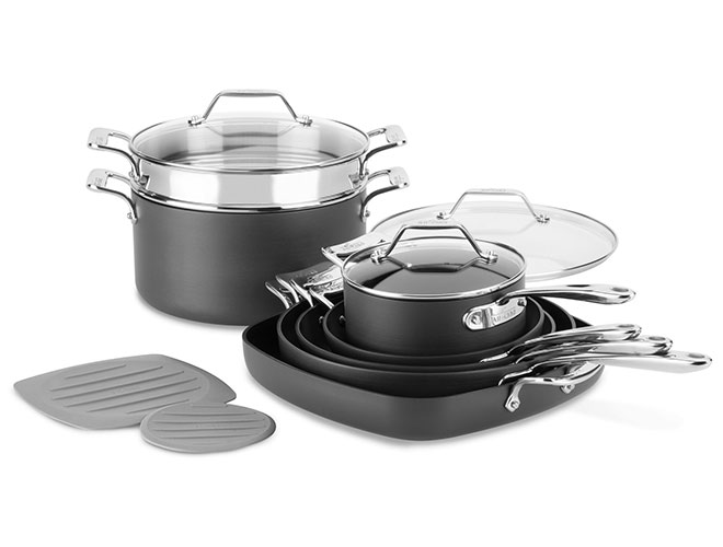 All-Clad 10 Piece Essentials Nonstick Nesting Cookware Set