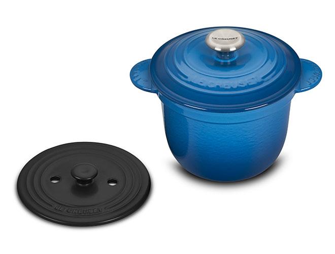 Le Creuset Signature Cast Iron 2.25 Quart Rice Pots with Stoneware Insert