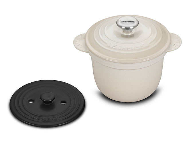 Le Creuset Signature Cast Iron 2.25 Quart Rice Pots with Stoneware Insert