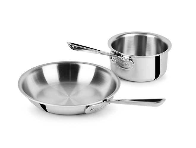 All-Clad d3 Stainless 2 Piece Open Saucepan & Skillet Starter Set