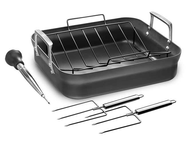 "Zwilling J.A. Henckels Motion 16x14"" Nonstick Roasting Pan with Rack and Tools"