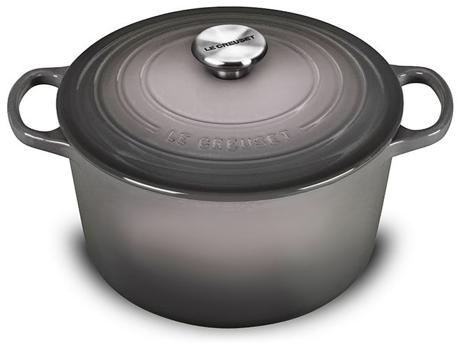 Le Creuset Cast Iron 5.25-quart Oyster Deep Round Dutch Oven with Stainless Steel Knob