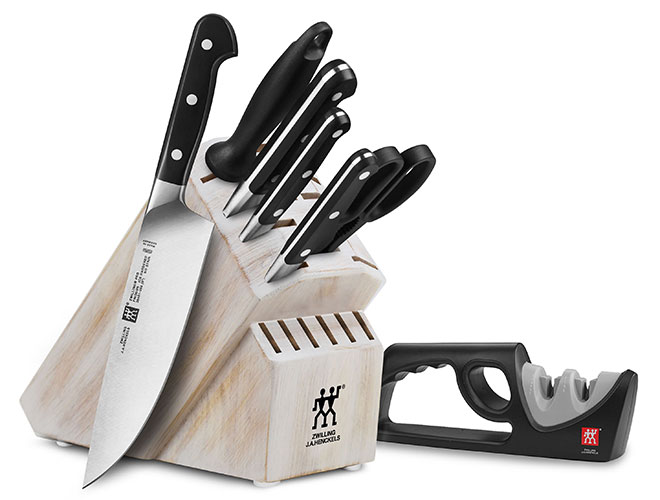 Zwilling J.A. Henckels Pro 7 Piece Knife Block Set with Bonus Sharpener