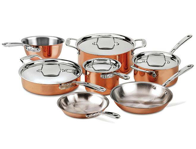 All-Clad c4 Copper 11 Piece Cookware Set