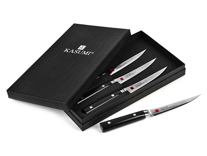 Kasumi Damascus 4 Piece Steak Knife Set