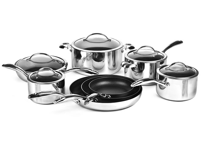 Scanpan HaptIQ 13 Piece Stainless Steel Nonstick Cookware Set