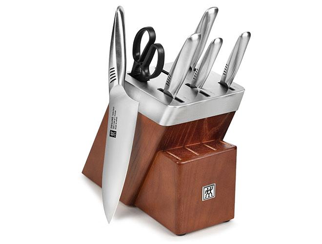 Zwilling J.A. Henckels Twin Fin II 7 Piece Self-Sharpening Knife Block Set