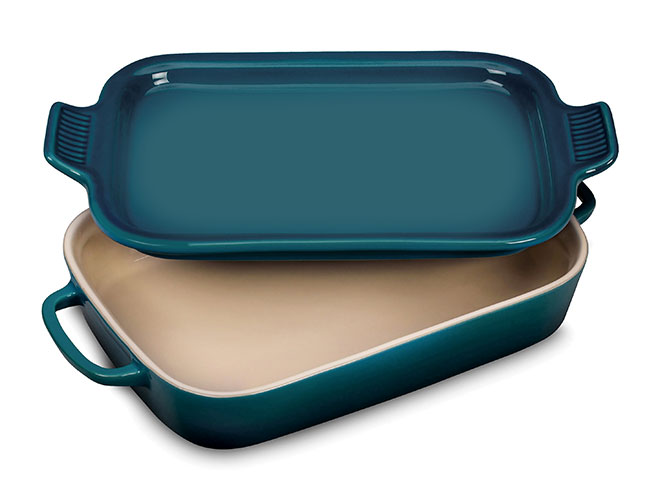 Le Creuset Stoneware 13 x 9-inch Rectangular Dish with Platter Lid