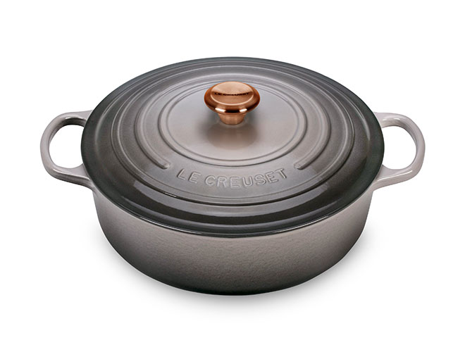 Le Creuset Signature Cast Iron 6.75-quart Round Wide Dutch Oven with Copper Knob