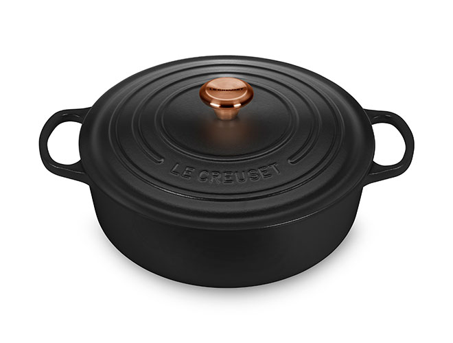 Le Creuset Signature Cast Iron 6.75-quart Round Wide Dutch Oven with Copper Knob