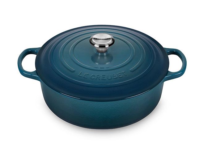 Le Creuset Signature Cast Iron 6.75-quart Deep Teal Round Wide Dutch Oven
