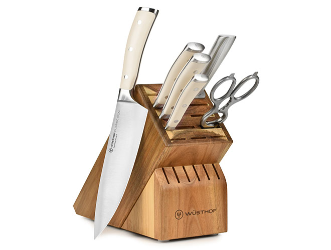 Wusthof Classic Ikon Creme 7 Piece Acacia Knife Block Set