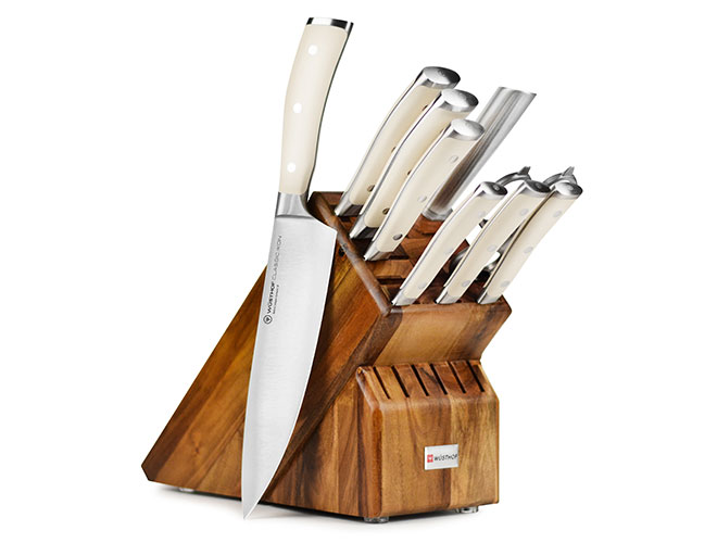Wusthof Classic Ikon Creme 10 Piece Acacia Knife Block Set