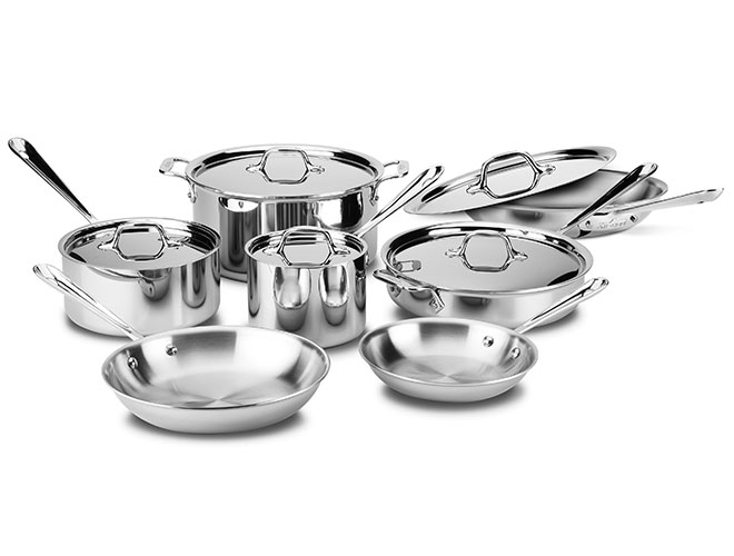 All-Clad d3 Stainless 12 Piece Cookware Set