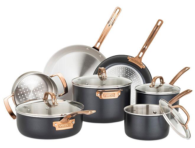 Viking 11 Piece Matte Black Tri-Ply Cookware Set