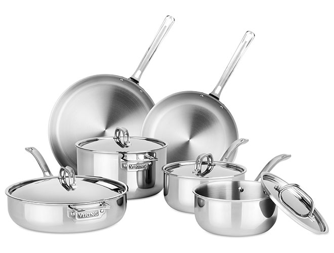 Viking 10 Piece 7-Ply Titanium Cookware Set