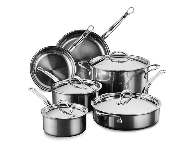 Hestan NanoBond 10 Piece Titanium Stainless Steel Cookware Set