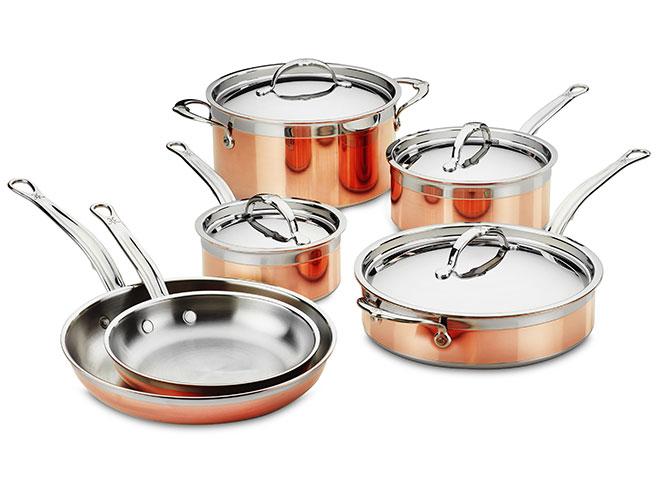 Hestan CopperBond 10 Piece Induction Copper Cookware Set