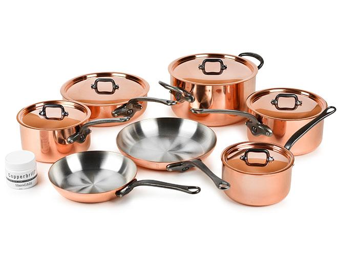 Mauviel M200CI 12 Piece Copper Cookware Set