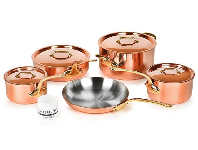 Mauviel M200B 9 Piece Copper Cookware Set