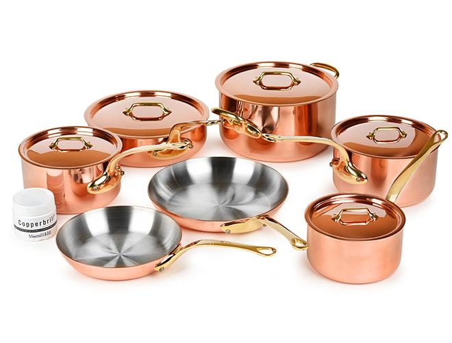 Mauviel M200B 12 Piece Copper Cookware Set