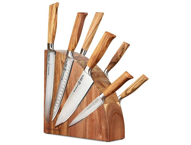 Messermeister Oliva Elite 8 Piece Magnetic Knife Block Set