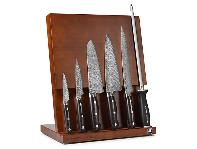 Kramer by Zwilling Stainless Damascus 7 Piece Magnetic Easel Knife Block Set