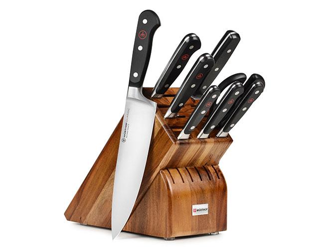 Wusthof Classic 9 Piece Acacia Knife Block Set