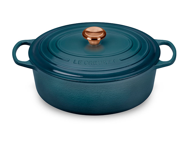 Le Creuset Signature Cast Iron 8-quart Oval Dutch Ovens with Copper Knob