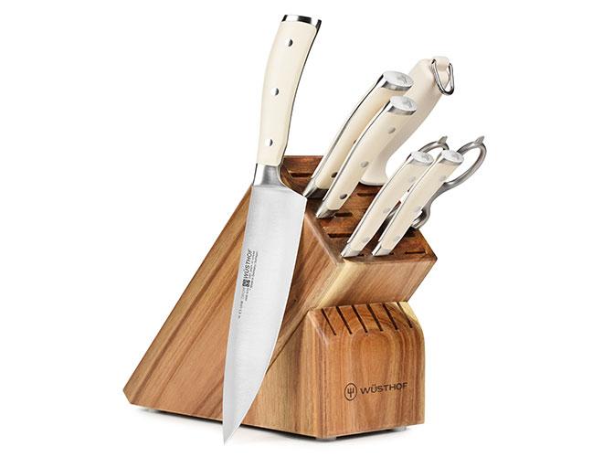 Wusthof Classic Ikon Creme 8 Piece Acacia Knife Block Set