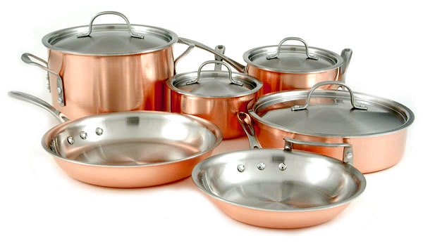 Calphalon Tri-Ply Copper 10 Piece Premier Cookware Set