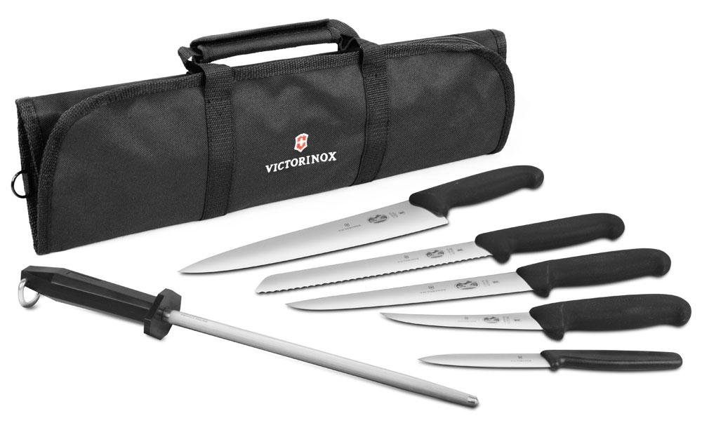 Victorinox Fibrox 7 Piece Deluxe Knife Roll Set