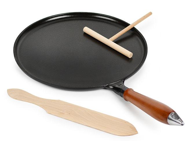 "Staub 11"" Matte Black Crepe Pan"