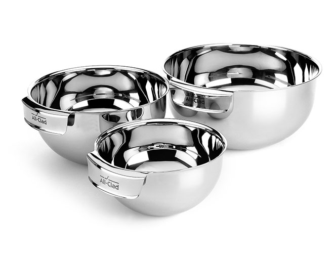 All-Clad 3 Piece Stainless Steel Mixing Bowl Set