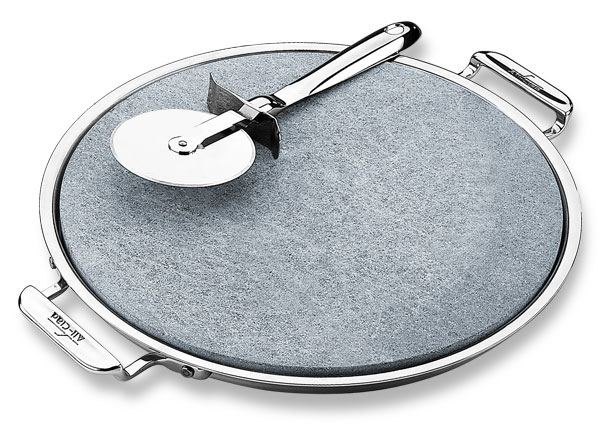 "All-Clad 13"" Round Pizza Stone Set"