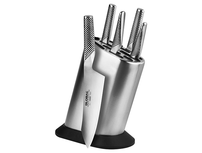 Global 6 Piece Stainless Steel Knife Set