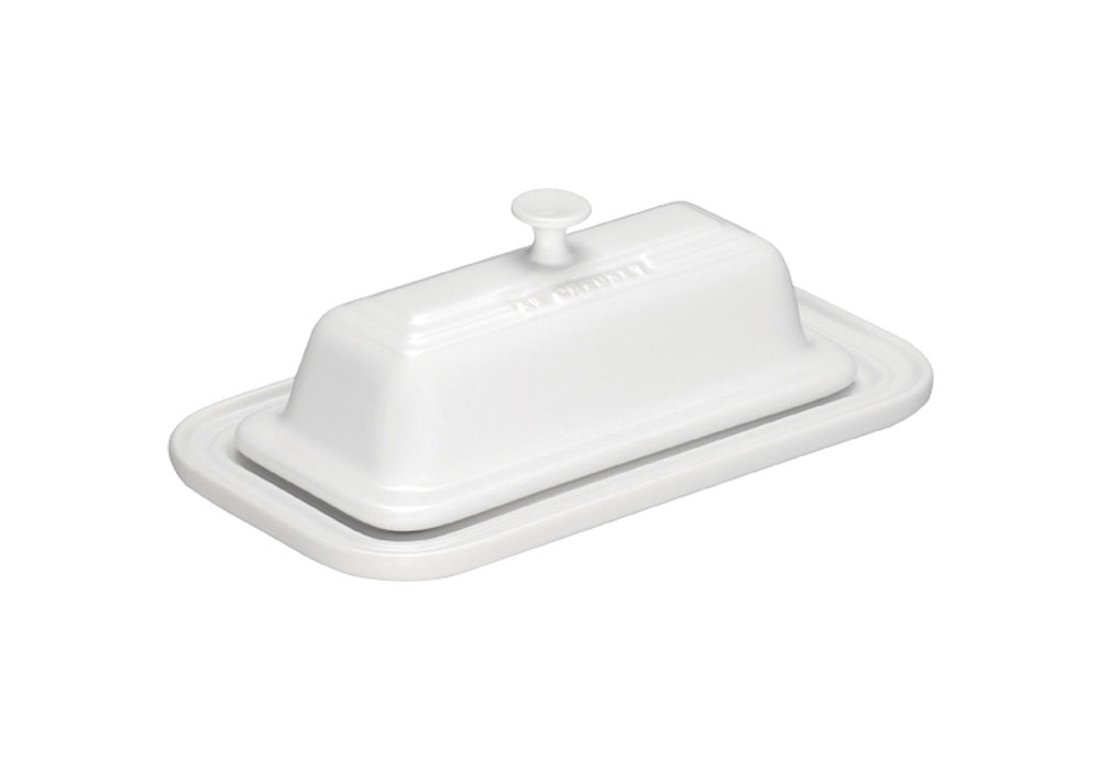 Le Creuset Stoneware Butter Dish, White | Cutlery and More