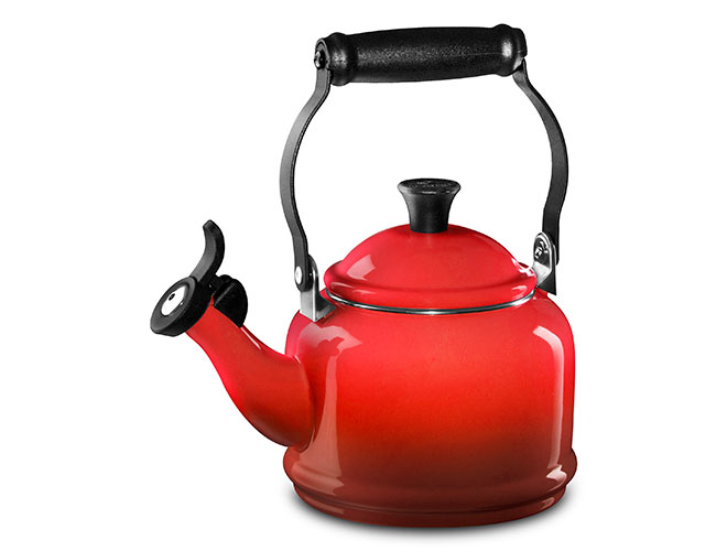 Le Creuset Enameled Steel 1.25-quart Cherry Red Demi Tea Kettle