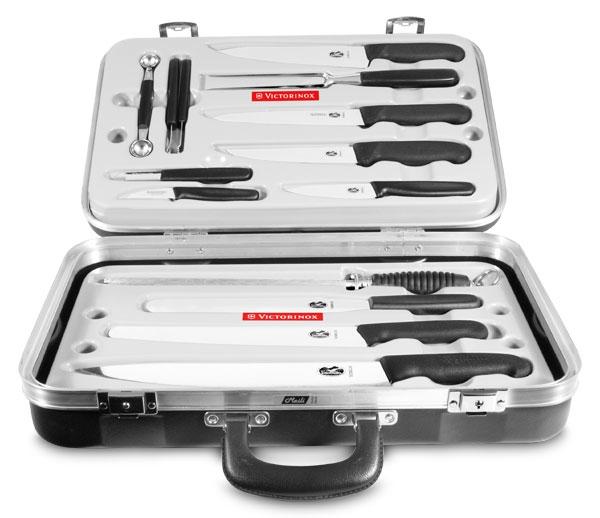 Victorinox Fibrox Elite Attache Case Knife Set 14 Piece