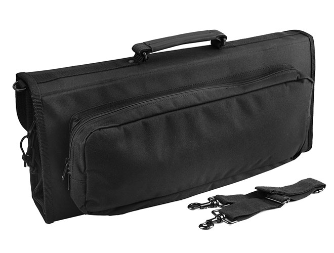 Messermeister 17 Pocket Black Knife Case with Expandable Outer Pocket